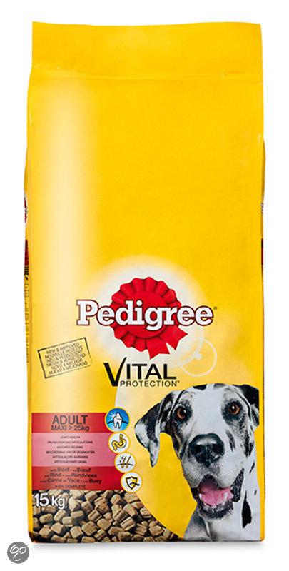 pedigree vital protection adult maxi hondenvoer droog rund 15 kg. Black Bedroom Furniture Sets. Home Design Ideas