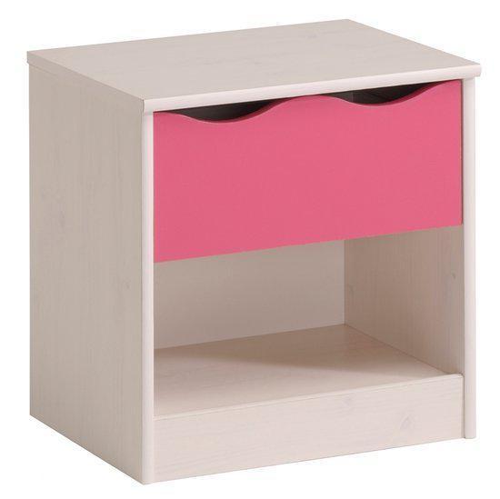 Parisot lolita nachtkastje wit hout - Wit hout nachtkastje ...