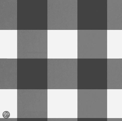 bol.com  Onszelf behang OZ 7850 grote ruit grijszwart  Baby