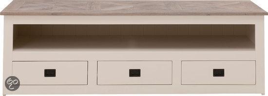 bol com   Goossens Tv meubel Velante, tv dressoir 3 laden 1 groot open vak 62 cm