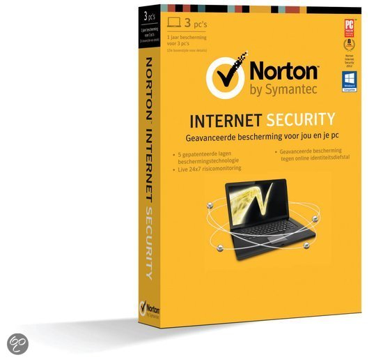 Symantec Norton Internet Security 2013 - End Of Year Promo / 3 Gebruikers / Nederlands / WIN