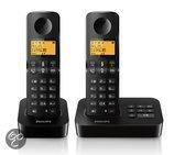 Philips D2152 - Duo DECT telefoon met antwoordapparaat - Zwart