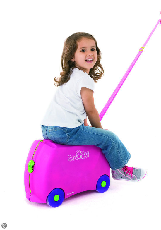 Trunki Ride-On - Roze Trixie - Kinderreiskoffertje
