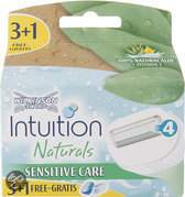 Wilkinson Sword Intuition Naturals Sensitive - 4 stuks - Scheermesjes