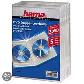 Hama 04783894 DVD Dubbel-box - 5 Pak / Transparant