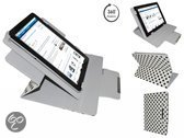 Toshiba Excite At10le A 108 Diamond Class Polkadot Hoes met 360 graden Multi-stand, Wit, merk i12Cover