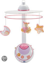 Magic stars cot mobile roze