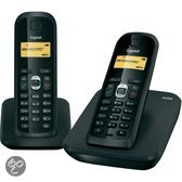 Gigaset AS200 - Duo DECT telefoon - Zwart