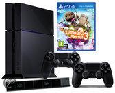 Sony Playstation 4 500GB Console + 2 Wireless Dualshock 4 Controllers + LittleBigPlanet 3 + Camera - Zwart PS4 Bundel