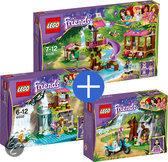 LEGO Friends Jungle Voordeelbundel: Jungle reddingsbasis 41038 + Jungle waterval reddingsactie 41033 + Eerste Hulp Junglebike 41032