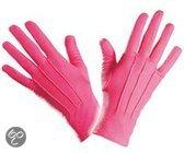 Roze handschoenen kort
