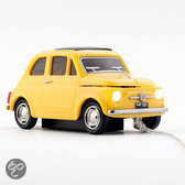 Click Car Mouse Fiat 500d old wired, yellow