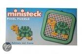 Ministeck Schildpad mini pixel puzzle met frame 8 x 8cm