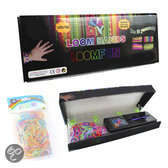 Loom Bands Loomfun Starterskit - Elastiekjes Starterset - 600 extra glow in the dark bands