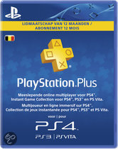 Sony PlayStation Plus Abonnement 365 Dagen - Belgie (PS4 + PS3 + PS Vita + PSN)