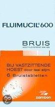 Fluimucil Acetylcysteïne 600 mg - 6 Tabletten - Bruistabletten