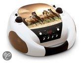 Portable radio en CD Speler Horses / Paarden