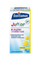 Davitamon Junior 3+ Kauwvitamines - Banaan - 60 Kauwtabletten - Multivitamine