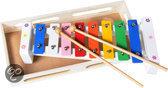 Xylofoon wit bloem in houten kistje
