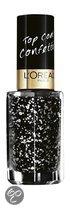 L'Oreal Paris Le Vernis Topcoat - 916 Confettis - Zwart - Nagellak
