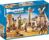 Playmobil Indianendorp met Tipi en Totempaal - 5247