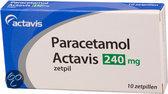 Actavis Paracetamol 240 mg - 10 Zetpillen - Pijnstillers
