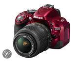 Nikon D5200 + 18-55mm VR - spiegelreflexcamera - Rood