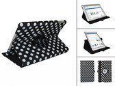 iPad Air hoes met 360° Multi-stand, Case met Polka Dot motief, Kleur Zwart
