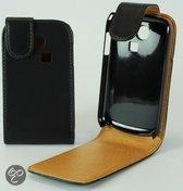 Faux Flip case hoesje Samsung S3350 Ch@t 335 zwart