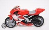 Gearbox Racemotor rood zilver 1:18