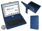 Keyboard Case voor de Asus Padfone Infinity, QWERTY Toetsenbordhoes, Blauw, merk i12Cover