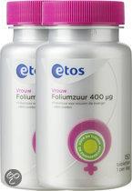 Etos Foliumzuur - 2 X 150 st - Voedingssupplementen