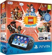 Sony PlayStation Vita Handheld Console WiFi + LEGO Mega Pack Download Voucher + 16GB Memory Card - Zwart PS Vita Bundel