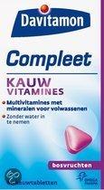 Davitamon Compleet Kauwvitamines - Bosvruchten - 60 Kauwtabletten - Multivitamine