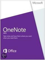 Microsoft OneNote 2013 - Engels / 32-bit/64-bit / 1 Licentie / Medialess Non-Commercial