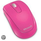 Microsoft Wireless Mobile Mouse 1000 - USB / Roze / Mac en Windows