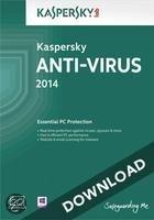 Kaspersky Anti-Virus 2014 1-pc 1 jaar directe download versie