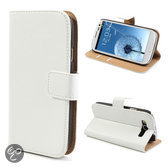 Mesh - Samsung Galaxy S3 - Wallet Case Hoesje Business Wit