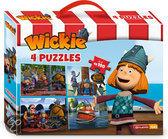 Wickie de Viking Puzzelkoffer 4x100 stukjes - Puzzel