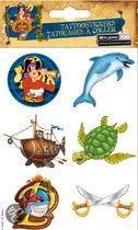 Piet Piraat tattoo's wonderwaterwereld