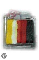 Aqua splitcake make - up geel / wit / oranje / rood / zwart