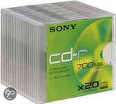 Sony CD-R 80min/700MB 48x 20 stuks in slimcase