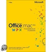 Microsoft Microsoft Office Mac Home and Student 2011 - Engels/ Licentie/ Download
