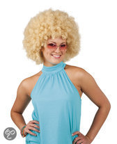 Pruik Afro - Blond