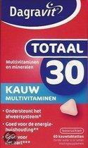 Dagravit Totaal 30 Xtra - 60 Kauwtabletten - Multivitamine