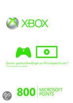 Foto van Microsoft Xbox Live 800 Microsoft Punten Xbox 360