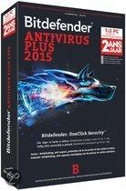 Bitdefender Antivirus Plus 2015 - 3 Gebruikers / 2 jaar / DVD