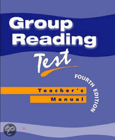 Group Reading Test Manual