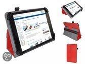 Fold up hoesje voor Easypix Easypad 710 , Kleur Rood , merk i12Cover