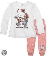 Hello Kitty Meisjesset - Wit / Roze - Maat 12 mnd